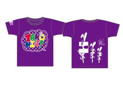 たこやきレインボー メンバーデザインTシャツL新品 紫 堀くるみ ライブグッズの画像