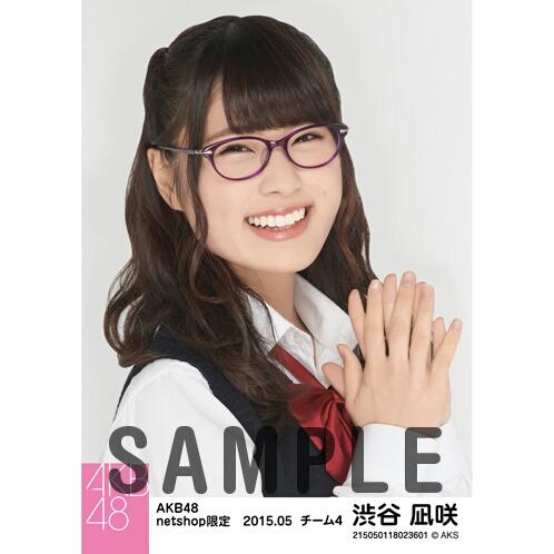 AKB48 2015年5月度 netshop限定個別生写真5枚セット 渋谷凪咲 ライブ・総選挙グッズの画像