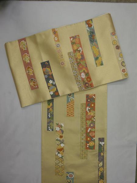 処分超特価:西陣橋本テル織物袋帯・献上草花文・芯入仕立付_画像2