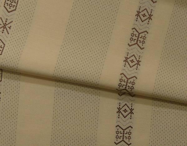 処分超特価:西陣織三代目市三郎・文様紬・手縫い仕立付_画像3