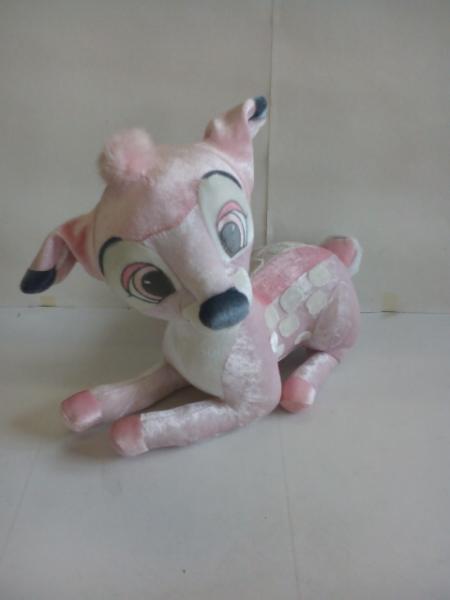 P3417♪Disney SEGA バンビ ぬいぐるみ ピンク ディズニーグッズの画像