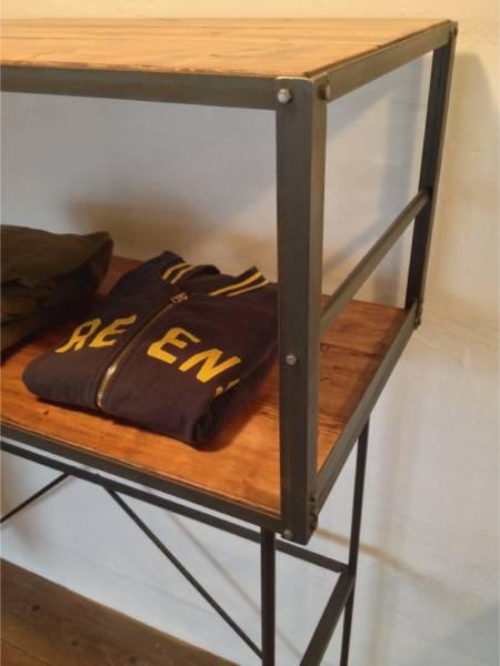 数量限定 CONVOY-S ハンガーラック シェルフ アイアン 棚 インダストリアル  本棚 衣装 キッチン ディスプレイラック_画像2