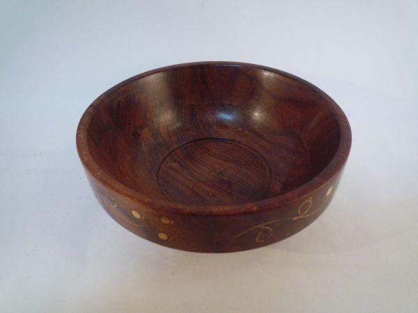 インド 手作り 器 木製 一品もの アジア 置物 1_画像2
