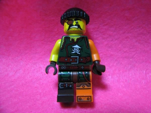 ☆レゴ-LEGO★フィグ★眼帯の強面海賊★足色違いレア美品★USED_フィグ★眼帯の強面海賊★足色違いレア美品