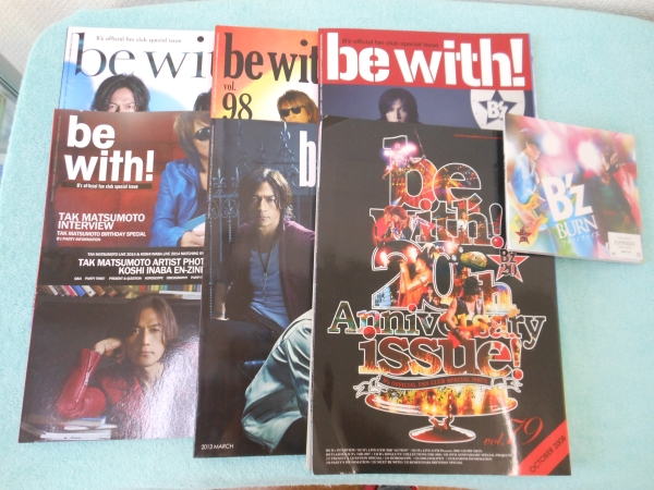 ★B`z bewith 会報 vol79.96~98.101.102 CD