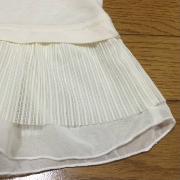 sakura boisホワイトカットソーLブージュルードBou Jeloud 裾レース