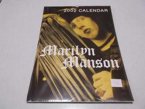 ▲ マリリン・マンソン 【 2002 カレンダー 】未開封新品♪