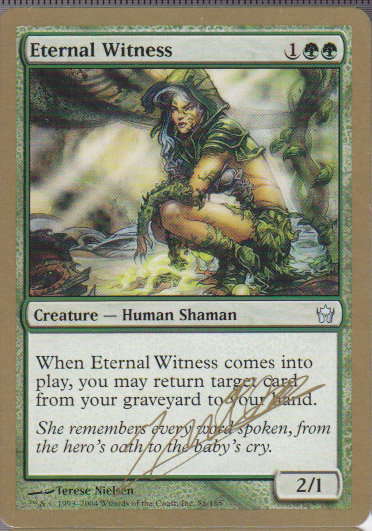 え緑 永遠の証人/Eternal Witness 1枚(3枚在庫─英SEMI-PLD 金_画像1