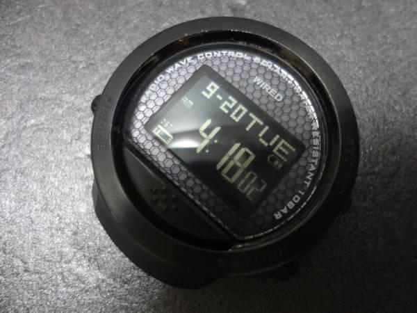 ◇◆SEIKO WIRED×honeyee.com セイコー ワイアード×ハニカム デジタル 電波 ソーラー メンズ 腕時計 W361-0AA0 ジャンク