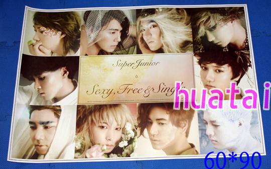Super Junior 6集 Sexy Free&Single 告知ポスター B