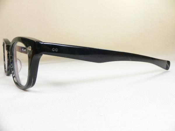 Stussy × 小竹長兵衛 眼鏡フレーム ALAN 限定 BLACK SASA_フロント下とテンプルにクリア部分あります
