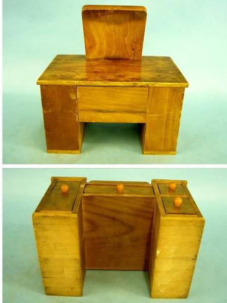 古い★収納鏡台・おもちゃの鏡台・木製玩具・昔・昭和レトロ★_画像3