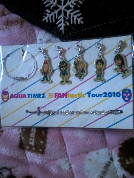 Aqua Timez グッズ☆限定FANtastic Tour ストラップ &キーリング