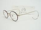 新品 ジョンレノン 丸 眼鏡 JL-1033-1 ゴールド/ブラウンデミ JOHN LENNON 縄手メガネ フレーム