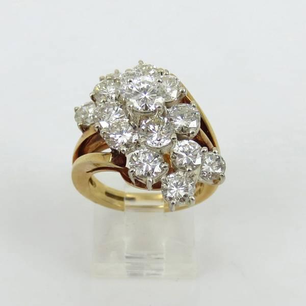 ヴィンテージ《5ctダイヤモンドGH/SI》18Kフラワーリング指輪_画像3