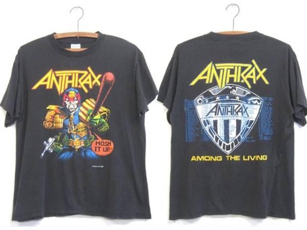 80s ビンテージ ANTHRAX アンスラックス '88 ツアー Tシャツ メタル バンドT ロックT