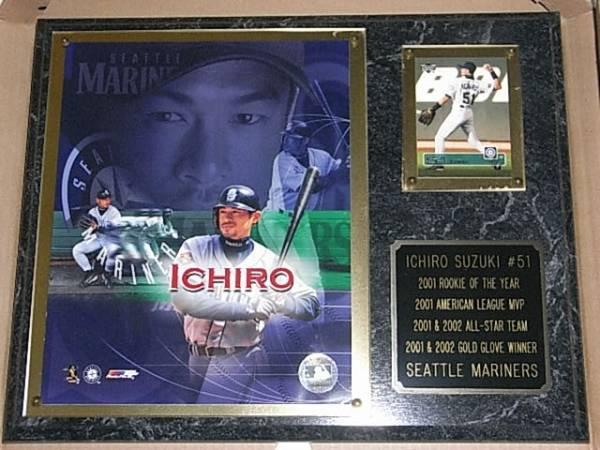 マリナーズ イチローフォトグラフ記念ボード 2001&2002年保管品 グッズの画像