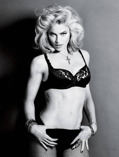 マドンナ Madonna アート モノクロ フォト  大きなサイズ
