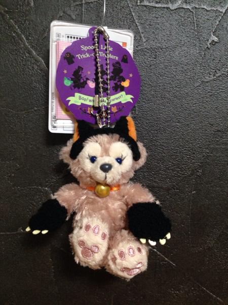 即決◆ シェリーメイ ぬいぐるみストラップ 黒ネコ ハロウィン ディズニーシー Shelliemay ダッフィー ディズニーグッズの画像