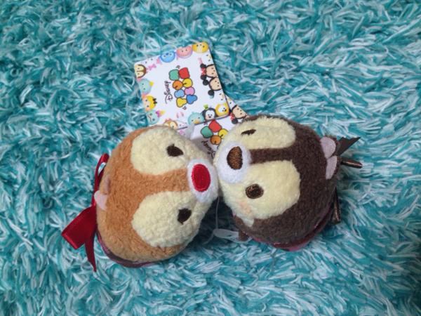 即決◆ プレゼント チップ デール Tsum ツムツム S ペア リボン ディズニーストア 新品 タグ付き スウィート ディズニーグッズの画像