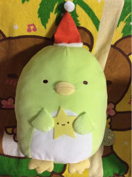 即決☆新品 すみっコぐらし クリスマスぬいぐるみXL ぺんぎん グッズの画像