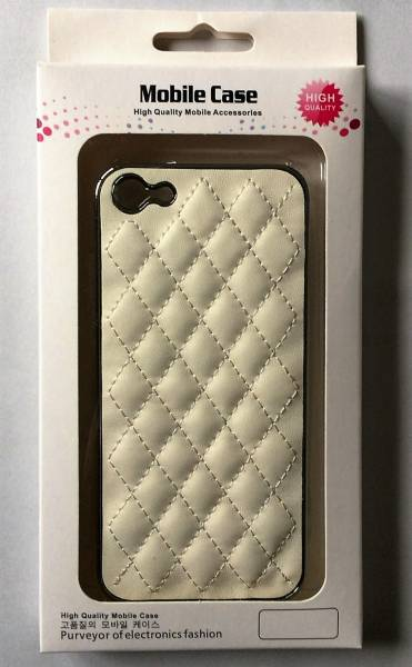 A-CASE for iPhone5,5S,SE-白レザーケース(新品)_画像1