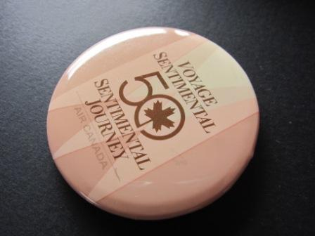 エアカナダ■50周年記念缶バッチ■スターアライアンス■1987年_画像2