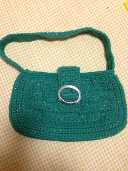 【送料込】レディースバッグ ハンドバッグ 毛糸素材