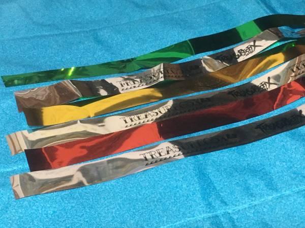 TREASURE05X 銀テープ ★3本セット★ 金、赤、緑