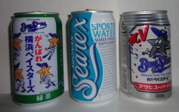 超レア★横浜ベイスターズ 湘南シーレックス ドリンク 空き缶 グッズの画像