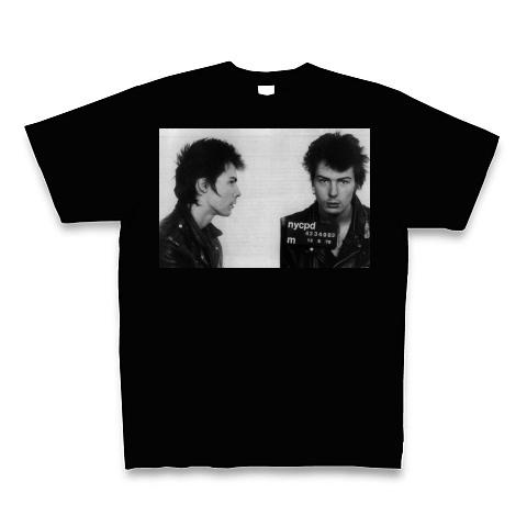 シド・ビシャス 刑務所収監時 Tシャツ(ブラック)