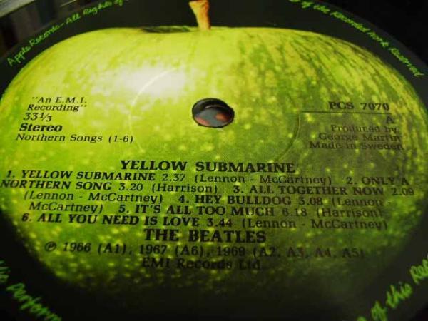 ◆BEATLES/ YELLOW SUBMARINE ◇-〃スウェーデン盤〃_画像3