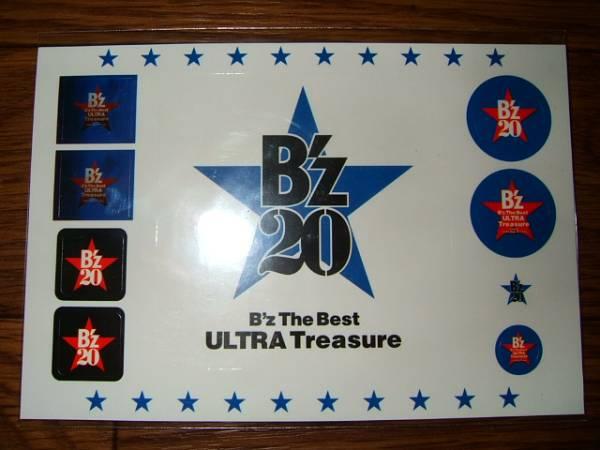【シール・ステッカーF8】 B'z The Best ULTRA Treasure 非売品!
