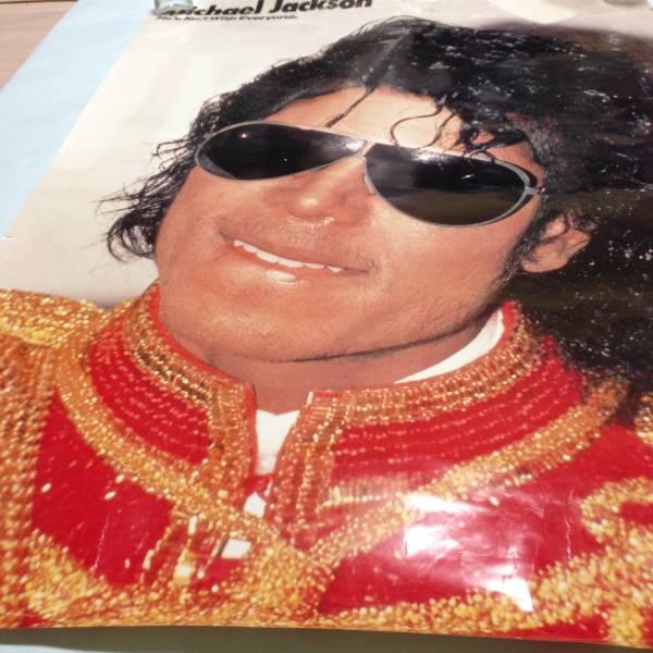 難有ポスター マイケルジャクソン MICHAEL JACKSON 当時もの ライブグッズの画像