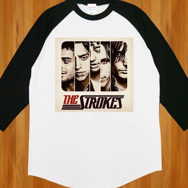 新品 The STROKES ストロークス ROCKロック Band6 Tシャツ2【M】_画像2