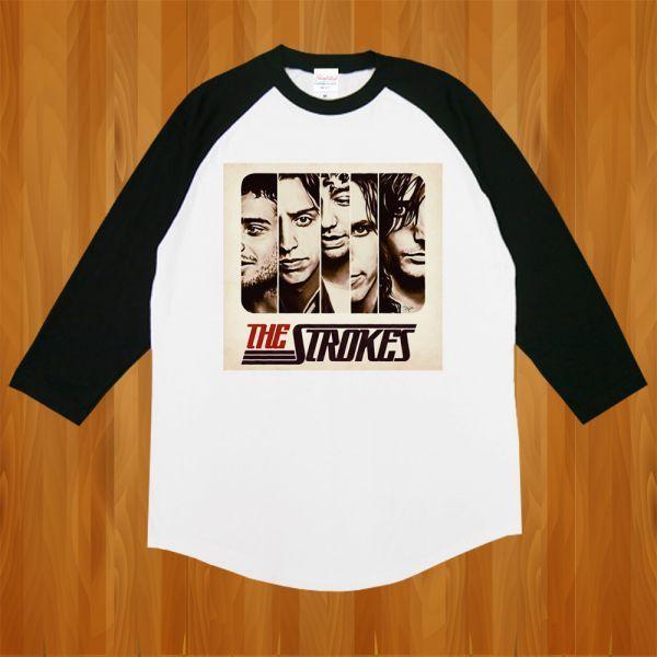 新品 The STROKES ストロークス ROCKロック Band6 Tシャツ2【M】_画像1