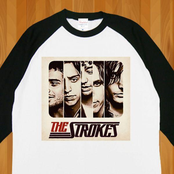 新品 The STROKES ストロークス ROCKロック Band6 Tシャツ2【M】_画像3
