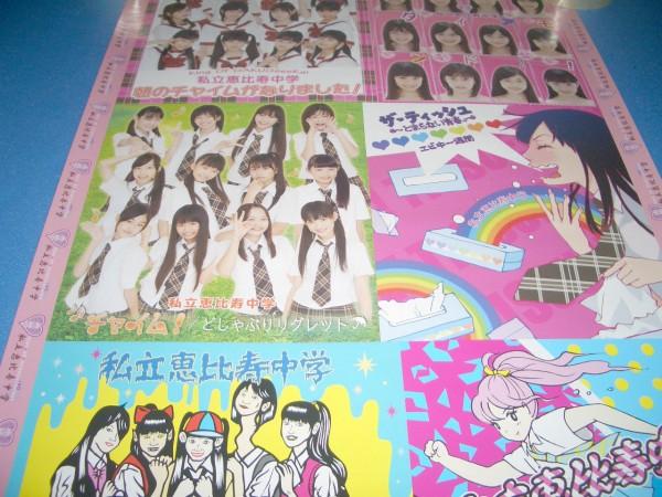 私立恵比寿中学 エビ中の絶盤ベスト 特典B2ポスター 未掲示