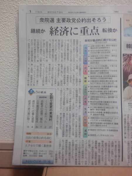 東京新聞 2014/11/28 衆議院議員総選挙_画像2