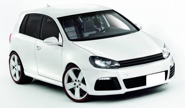 09up VW ゴルフ6 MK6 マークレス バッジレス グリル / スポイラー エアロ_画像1