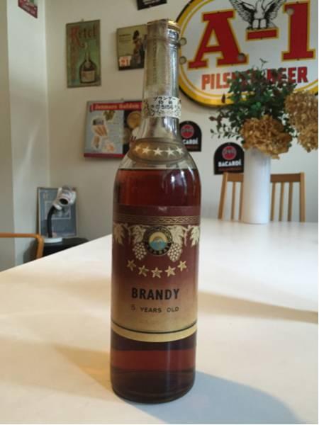 ソ連のブランデー未開封ビンテージボトル古酒モスクワ 白樺_画像1