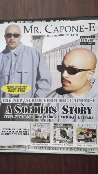 ☆MR.CAPONE-E / A SOLDERS STORYのアルバムポスタ-!