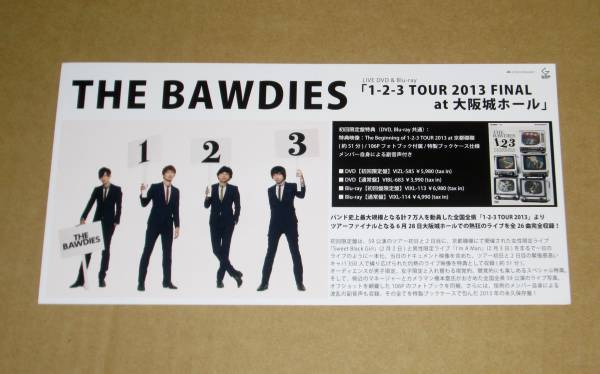 THE BAWDIES [1-2-3 TOUR 2013 FINAL] 告知ポップ スリック