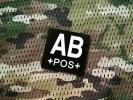 新品 米軍★血液型AB IRレプリカ パッチ ベルクロ サバゲー♪