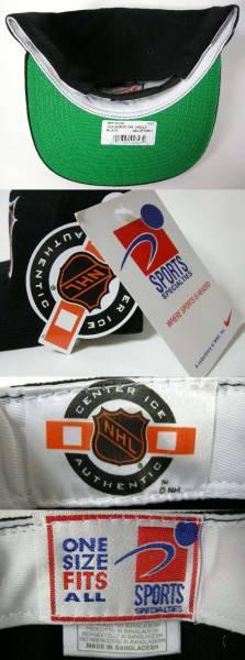 NHL リーグロゴ 90'S VINTAGE ヴィンテージ デッドストック スナップバック キャップ SNAPBACK CAP_画像3