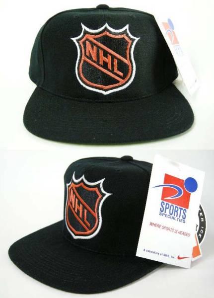 NHL リーグロゴ 90'S VINTAGE ヴィンテージ デッドストック スナップバック キャップ SNAPBACK CAP_画像1