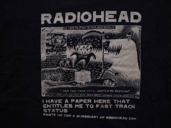 本物 貴重 美品 WASTE RADIOHEAD レディオヘッド Tシャツ L