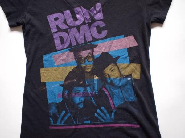 貴重 RUN DMC Vネック Tシャツ M ROCKWARE