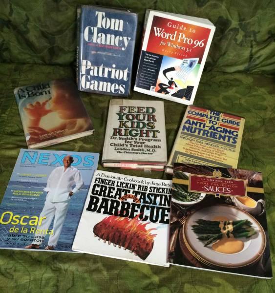 洋書☆米軍基地施設放出品☆色々8冊ジャンク_様々なジャンルの放出書籍