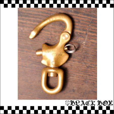 「solid brass 真鍮 無垢 ソリッド ブラス スイベル スナップシャックル キーホルダー カラビナ イギリス UK GB ENGLAND 英国製 69mm 3」の画像2